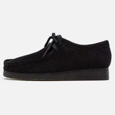クラークス メンズ 靴 シューズ WALLABEE - Casual lace-ups - black