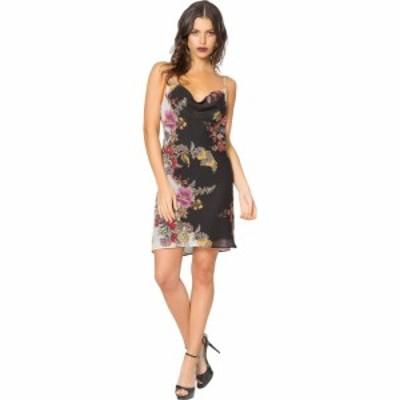 ラベンダーブラウン LAVENDER BROWN レディース ワンピース ミニ丈 ワンピース・ドレス Bias Printed Cawl Neck Mini Dress Black/Ivory