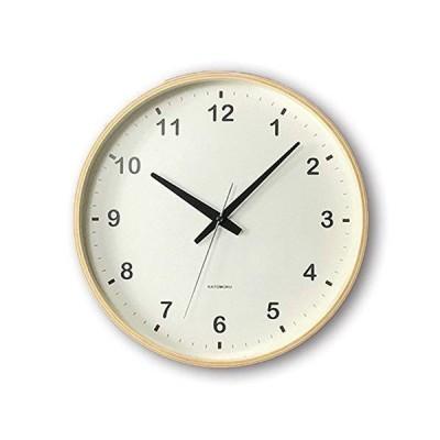 KATOMOKU plywood wall clock ナチュラル スイープ(連続秒針) km-33L φ304mm