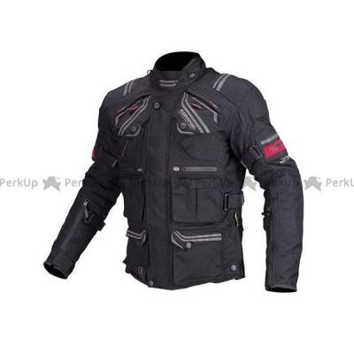 【無料雑誌付き】コミネ JK-593 プロテクトフルイヤーツーリングジャケット(ブラック) サイズ:M KOMINE