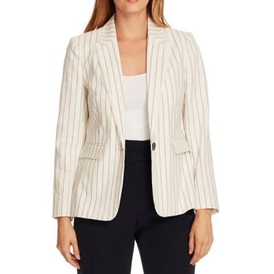 ヴィンスカムート ジャケット・ブルゾン アウター レディース Stripe Stretch Cotton Jacket Pearl Ivory