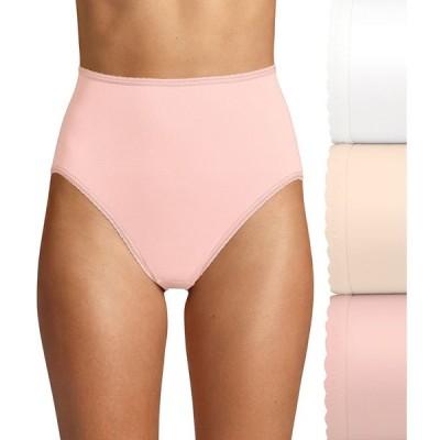 バリ Bali レディース ショーツのみ 3点セット インナー・下着 Skimp Skamp Hi-Cut Brief 3-Pack White/Nude/Pink