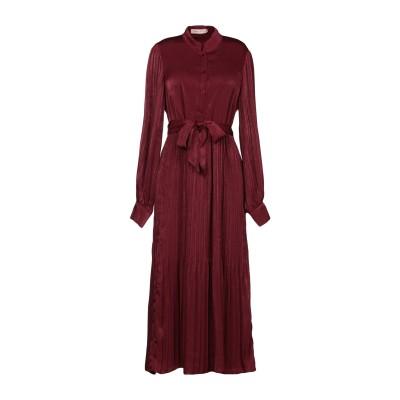 TRAFFIC PEOPLE 7分丈ワンピース・ドレス ボルドー M ポリエステル 100% 7分丈ワンピース・ドレス