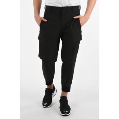 NEIL BARRETT/ニール バレット Blue メンズ Slouch Fit Cargo Pants with Elastic Ankle Band dk