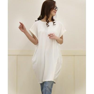 綿100%‼白のみの超特価‼お家時間にピッタリTシャツワンピース