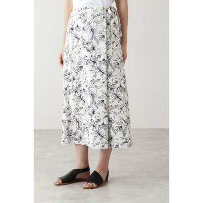 スカート アートワークプリントスカート