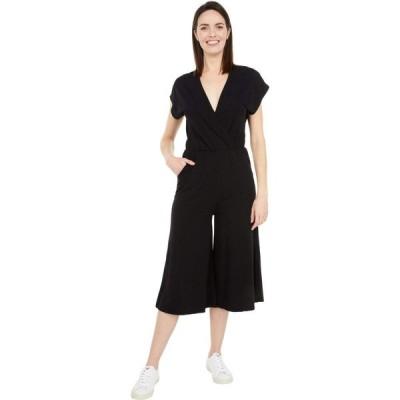 ボビ ロサンゼルス bobi Los Angeles レディース オールインワン ジャンプスーツ ワンピース・ドレス Draped Modal Jersey Crossover Jumpsuit Black