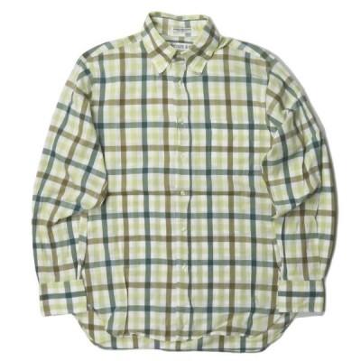 インディビジュアライズドシャツ INDIVIDUALIZED SHIRTS アメリカ製 コットンチェックBDシャツ 151/2-33 長袖 ボタンダウン トップス