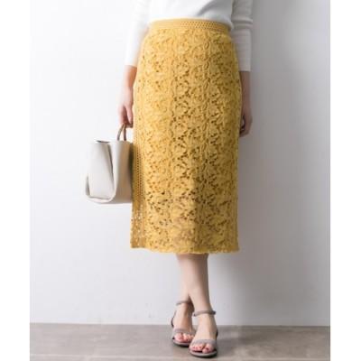 【アーバンリサーチ/URBAN RESEARCH】 UR カラーレースロングタイトスカート