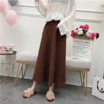 スカート マキシスカート ストライプ 大きいサイズ 体型カバー フレアスカート ロング Aライン 無地 夏新作 ボリュームス