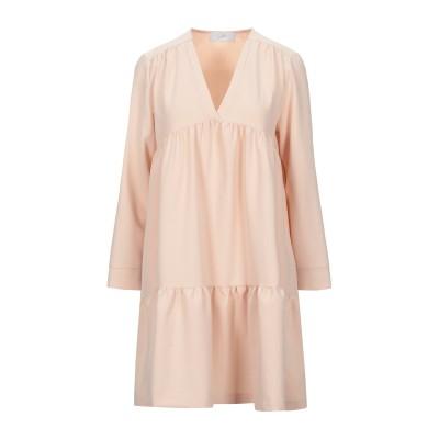 SOALLURE ミニワンピース&ドレス ピンク 40 ポリエステル 75% / レーヨン 23% / ポリウレタン 2% ミニワンピース&ドレス