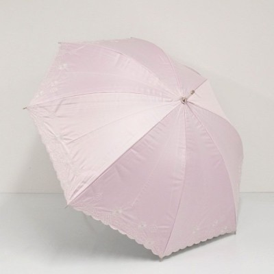 日傘 レディース Pierre Cardin ピエールカルダン USED美品 晴雨兼用日傘 晴雨兼用 ピンク 花柄 刺繍 スカラップ 50cm UV SA4329