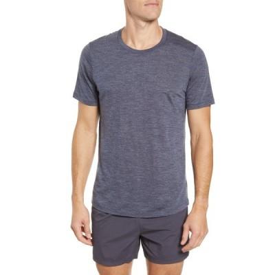 アイスブレーカー シャツ トップス メンズ Cool-Lite Sphere Runner's T-Shirt Midnight Navy Heather/ Navy