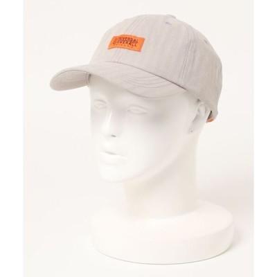 帽子 キャップ 【UNIVERSALOVERALL/ユニバーサルオーバーオール】ヘリンボーンローキャップ ワンポイントブランドロゴ