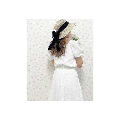 アラマンダ allamanda BACKレースUPバルーン袖BL(SETUP対応) (オフホワイト/レース)