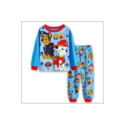 男の子 女の子 キッズ ディズニー 子供 こども プリント パジャマ 長袖&長ズボン(わんわんパトロール) 90cm〜130cm 綿100%