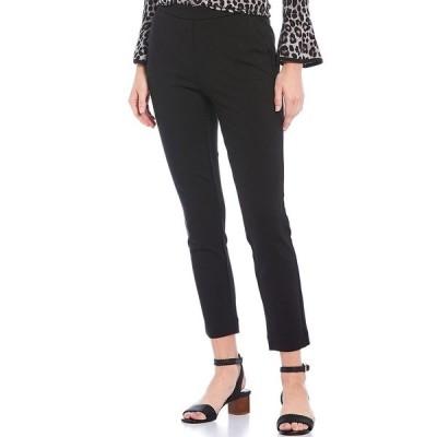 マイケルコース レディース カジュアルパンツ ボトムス MICHAEL Michael Kors Solid Ponte Knit Pull-On Straight Leg Ankle Pants Black