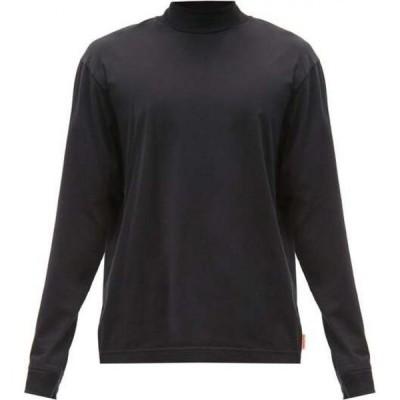 アクネ ストゥディオズ Acne Studios メンズ 長袖Tシャツ トップス Mock-neck cotton-jersey top Black