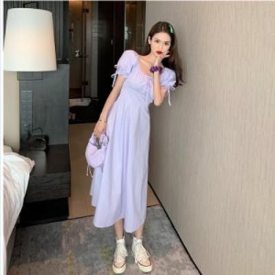 韓国 ファッション レディース 大きいサイズ ミモレ丈 ワンピース 大きいサイズ 半袖 春ワンピース 春 韓国 ファッション レディース 韓