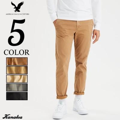 アメリカンイーグル チノパン カラーパンツ メンズ スリムストレート ストレッチ 全3色 大きいサイズ