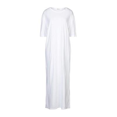 リプレイ REPLAY 7分丈ワンピース・ドレス ホワイト S レーヨン 52% / コットン 48% 7分丈ワンピース・ドレス