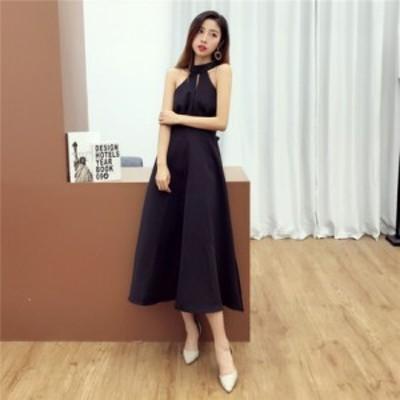ドレス シンプル 大人 ロング丈 パーティー ad-0007