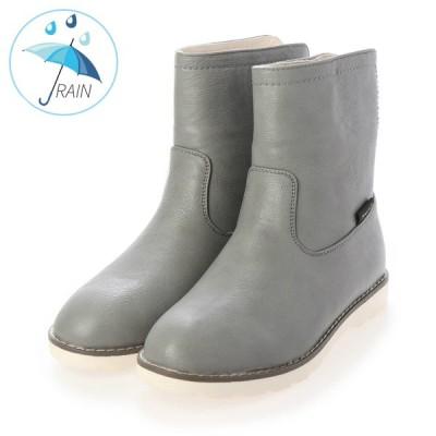 アマート レインブーツ 2201 グレー S/M/L/LL 防水 撥水 長靴 ショート丈 オールシーズン ベーシック フラット レイン PU