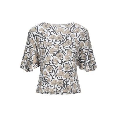 カングラ カシミア KANGRA CASHMERE T シャツ ホワイト 42 レーヨン 95% / ポリウレタン 5% T シャツ