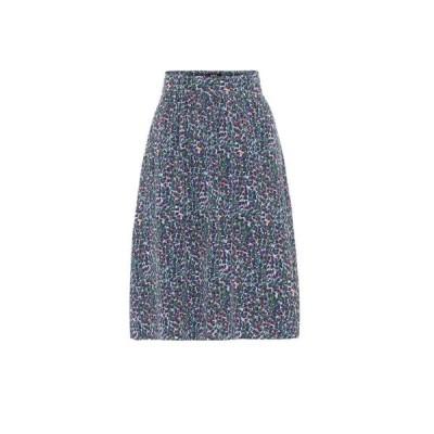 アーペーセー A.P.C. レディース スカート Ravenna crepe de chine skirt Bleu