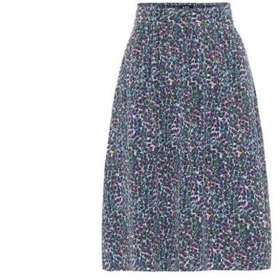 アーペーセー A.P.C. レディース ひざ丈スカート スカート ravenna crepe de chine skirt Bleu