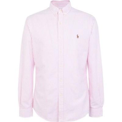 ラルフ ローレン POLO RALPH LAUREN メンズ シャツ ワイシャツ トップス slim fit oxford striped shirt Pink