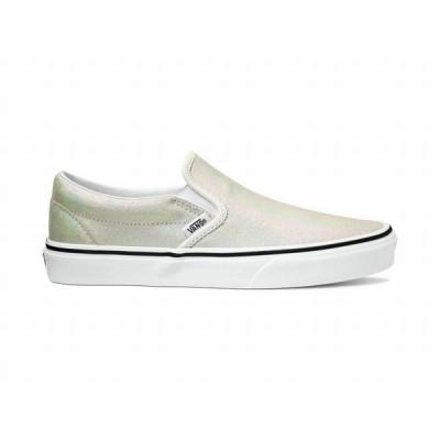 (取寄)Vans(バンズ) スニーカー クラシック スリップ-オン ユニセックス メンズ レディースVans Unisex Classic Slip-On(Prism Suede) Metallic/Blanc de B