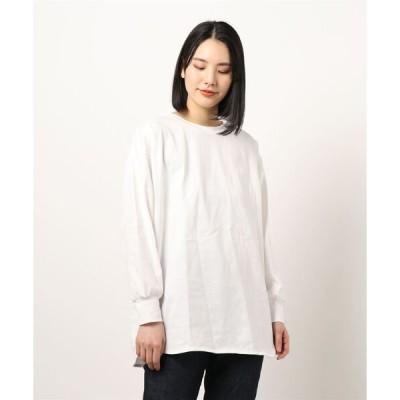 tシャツ Tシャツ バックロゴプリント入BIGロングTシャツ