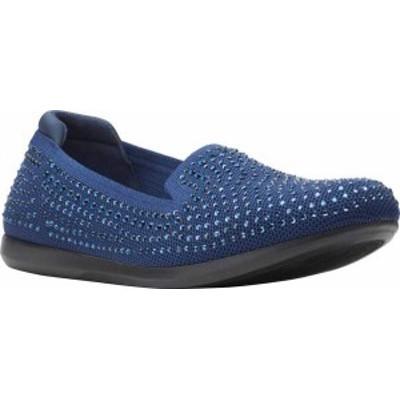 クラークス レディース スリッポン・ローファー シューズ Women's Clarks Carly Dream Knit Loafer Navy Knit/Sparkles