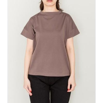 handvaerk ハンドバーク WOMEN'S 60/2 bottle neck s/s t-shirt(MAHOGANY)