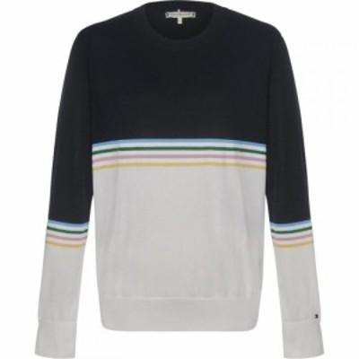 トミー ヒルフィガー Tommy Hilfiger レディース ニット・セーター トップス Lanah Crew Neck Sweater Navy Multi