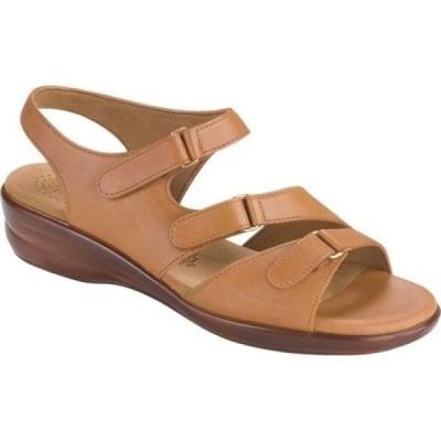 サス SAS レディース サンダル・ミュール シューズ・靴 Tabby Strappy Sandal Caramel Leather