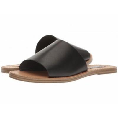 Steve Madden スティーブマデン レディース 女性用 シューズ 靴 サンダル Grace Slide Sandal Black Leather【送料無料】