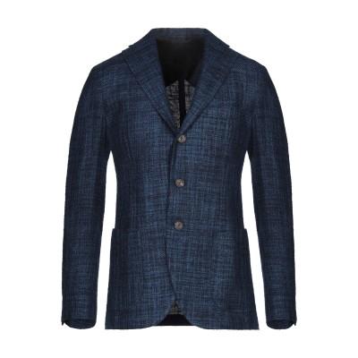 DOPPIAA テーラードジャケット ブルー 52 シルク 77% / コットン 23% テーラードジャケット