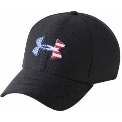 アンダーアーマー メンズ 帽子 アクセサリー Under Armour Men's Freedom Flag Blitzing Hat Black