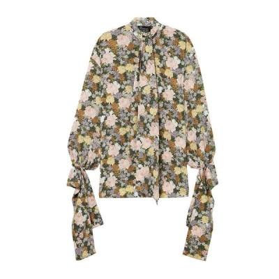 ROKH シルクシャツ&ブラウス  レディースファッション  トップス  シャツ、ブラウス  長袖 ピンク