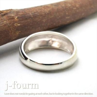 シルバー 925 シルバー ピンキー リング 指輪 ふっくら 甲丸