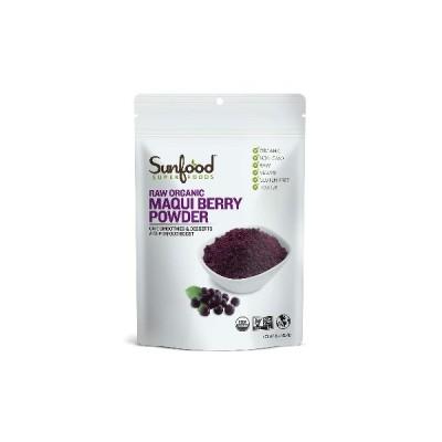 大サイズ サンフード オーガニック 生 マキベリー パウダー 227g Sunfood Maqui Berry Powder