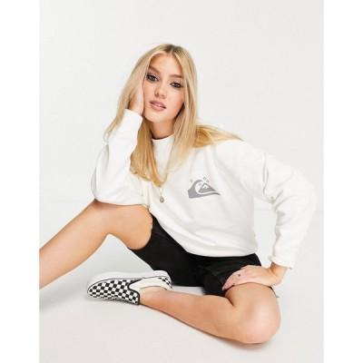 クイックシルバー Quiksilver レディース スウェット・トレーナー トップス Oversized sweatshirt in white