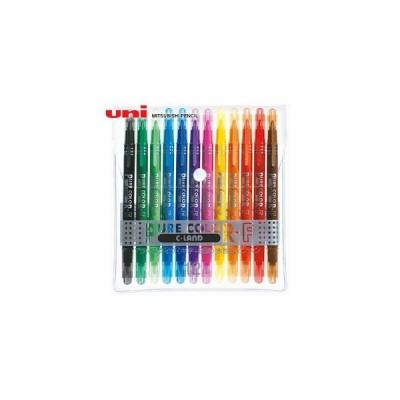 水性ペン類 三菱鉛筆 ピュアカラー 極細・細字タイプ 12色セット PW-101TPC12C
