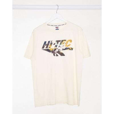 ハイテック 半袖Tシャツ メンズ HI-Tec large camo logo t-shirt in cream エイソス ASOS