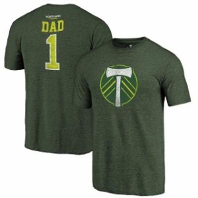 Fanatics Branded ファナティクス ブランド スポーツ用品  Fanatics Branded Portland Timbers Green Greatest Dad Tri-Blend T-Shirt