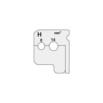 (代引不可)JEFCOM(ジェフコム) ワイヤーストリッパー 替刃 DIV-814KP (A)