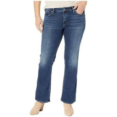 シルバー ジーンズ レディース デニムパンツ ボトムス Plus Size Suki Mid-Rise Curvy Fit Slim Boot Jeans in Indigo W93616SDK424