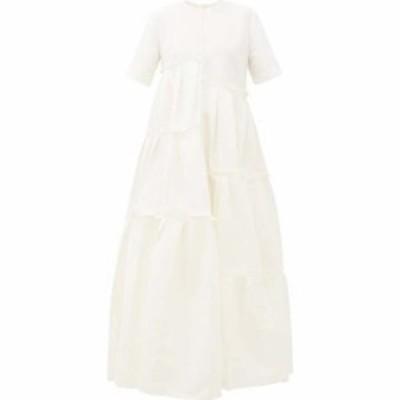 メゾン ラビ カイルー Maison Rabih Kayrouz レディース パーティードレス ワンピース・ドレス Asymmetric-Pleat Faille Gown Ivory